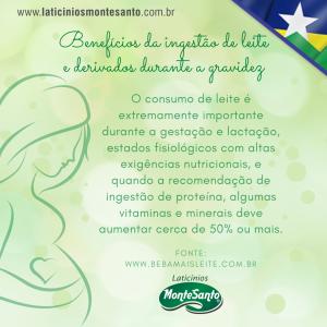 Benefícios da ingestão de leite e derivados durante a gravidez