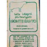 Primeira embalagem do nosso leite pasteurizado